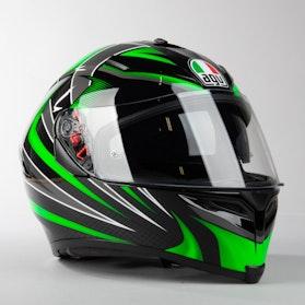 Kask Motocyklowy AGV K-5 S  Czarny Zielony