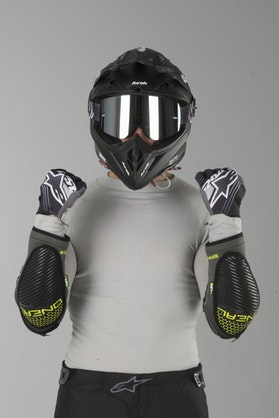 O'Neal Sinner Elbow Protection Grey-White