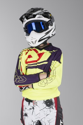 Acerbis Spellblast MX Youth Motocross Jersey Yellow-Purple