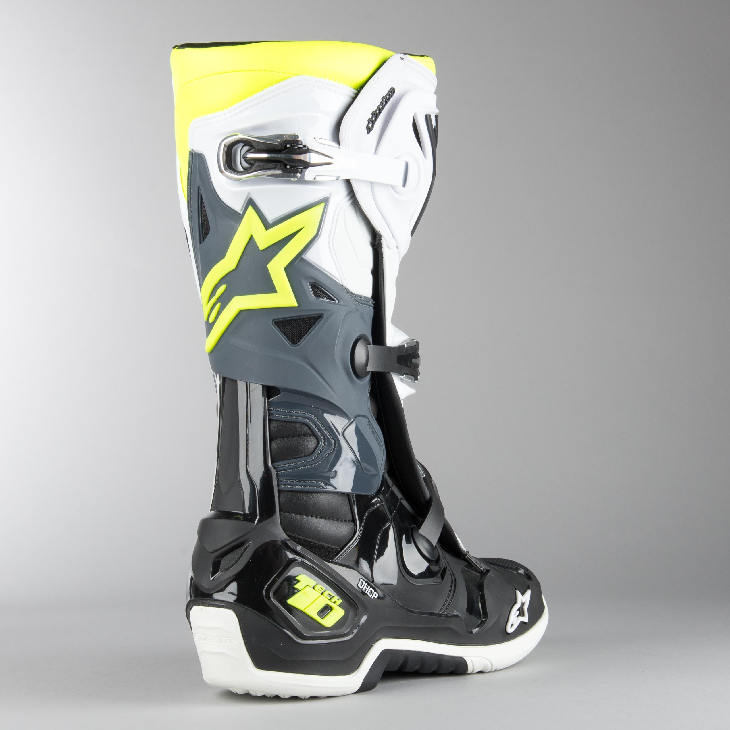 Alpinestars Tech 10 MX Boots Black White FlouYellow