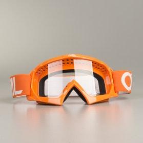 Crossové Brýle O'Neal B-10 Solid Dětské Oranžová-Bílá
