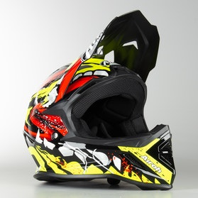 Airoh Archer Grim Kids MX Helmet Gloss