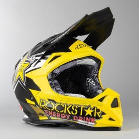 Kask Cross Just1 J32 Pro Rockstar 2.0 Niebiesko-Żółty