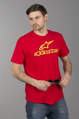 T-Shirt Alpinestars Always Tech Czerwono-HiVis-Żółty