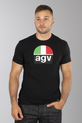 T-Shirt AGV 1970 Czarny