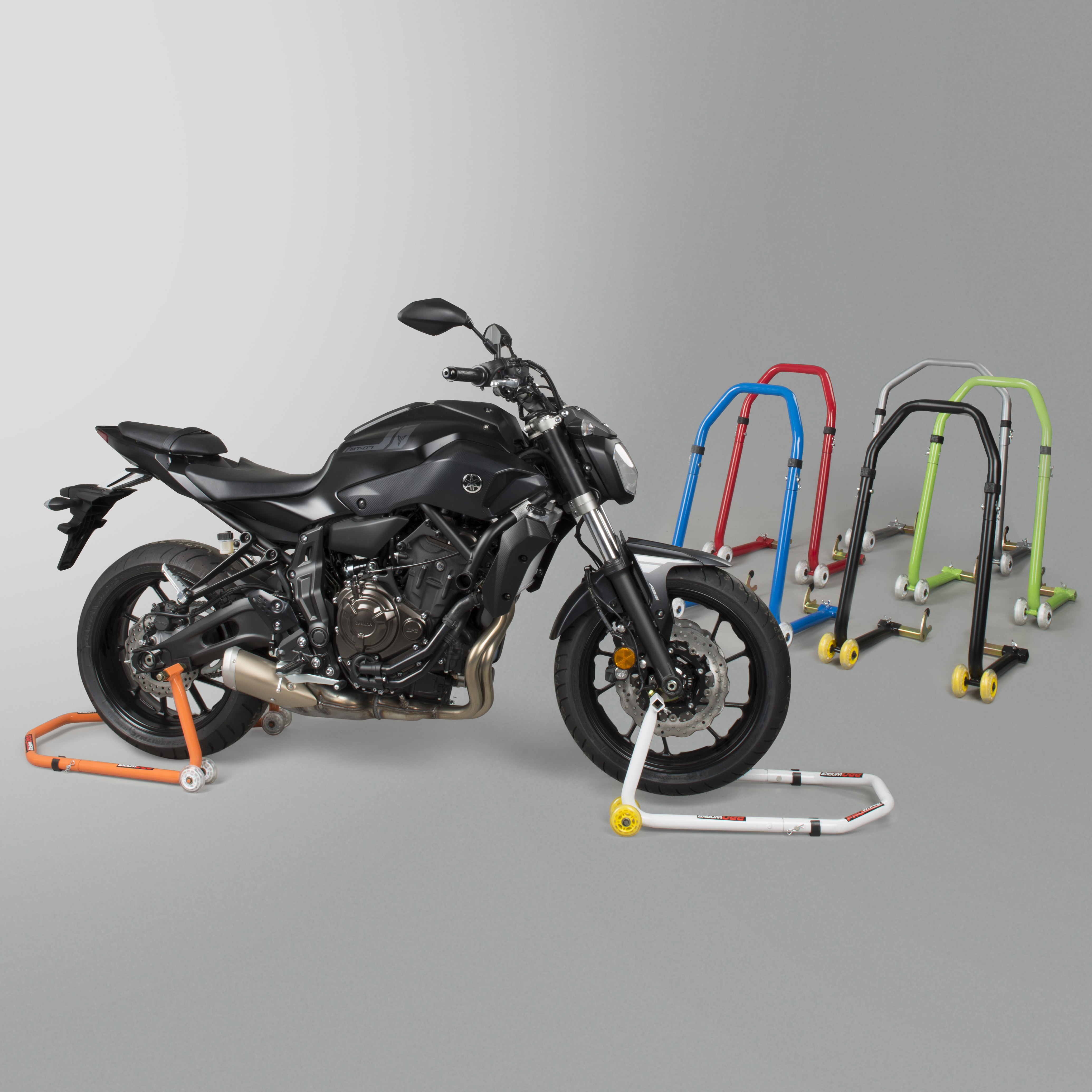 Universal Motorcycle Front /& Rear Paddock Motorbike Bike Stand Track New