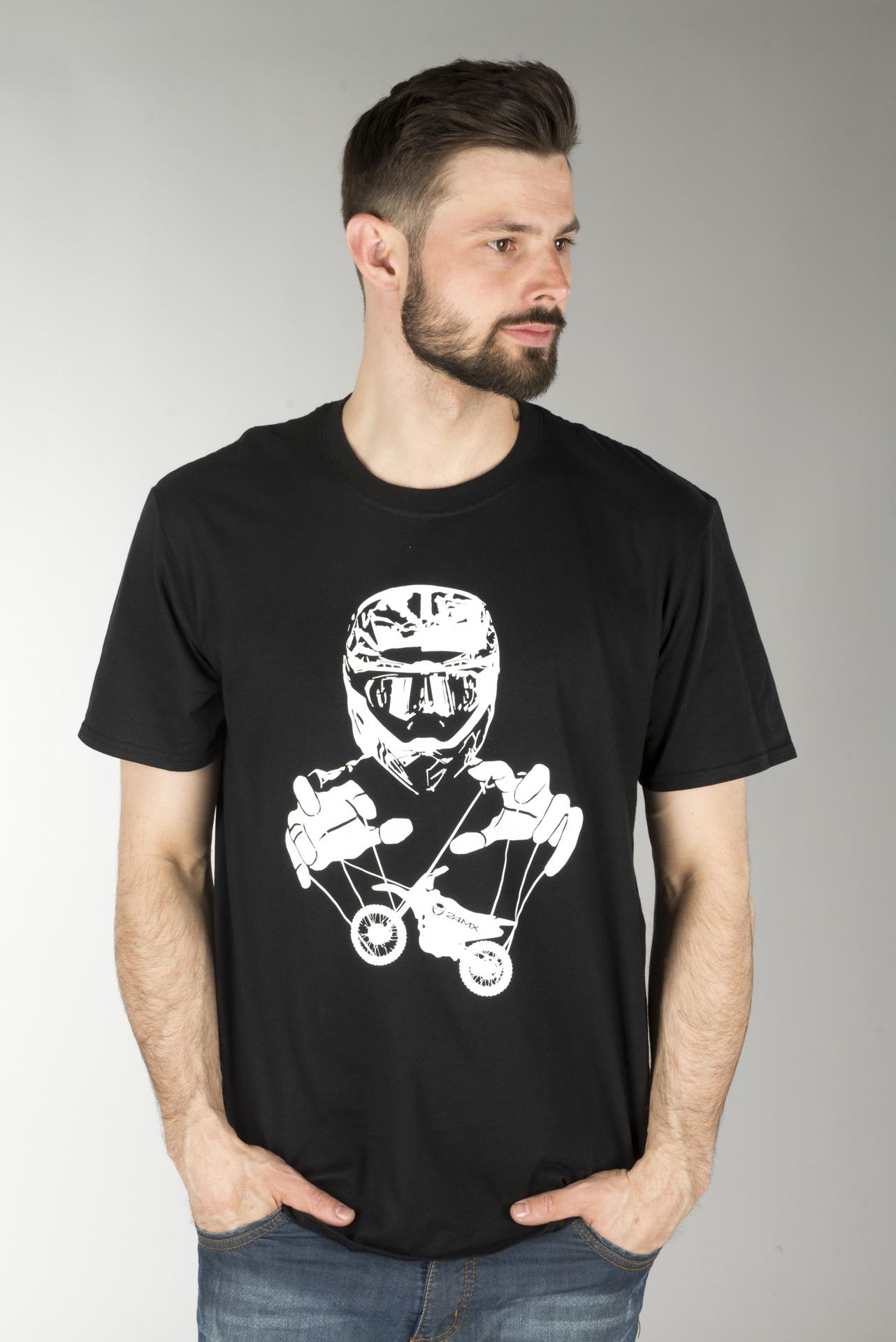 T Skjorte 24MX Marionette Svart Nå 72% Du sparer 24mx.no