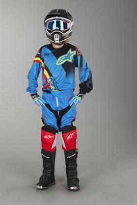 Alpinestars Youth Racer Supermatic Kit Aqua-Black-Red