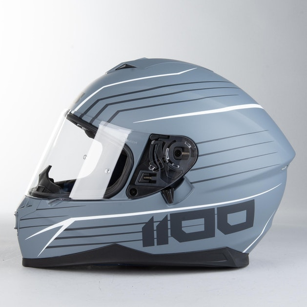 IXS 1100 2.1 Integral Helmet Matte Grey-White