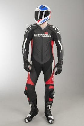 Kombinezon Skórzany Spidi Supersport Wind Pro Czarno-Czerwono-Biały