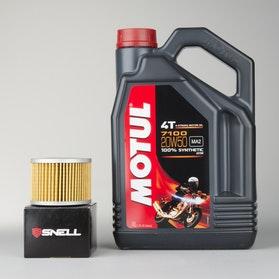 Olej W pełni syntetyczny 4L+filter oleju Motul 7100 4T 20W50