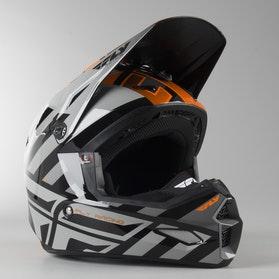 FLY Elite Cold Weather Cross-Helmet Orange-Grey-Black