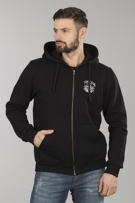 Lucky 13 Death Glory Zip Hoodie Black