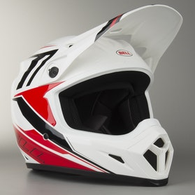 Kask cross Bell MX-9 Röd Barricade