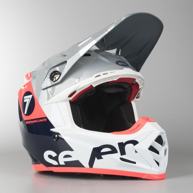 0a4e2b5b Bell Moto-9 Flex Seven Zone MX Helmet Navy-Coral - Now 16% Savings ...