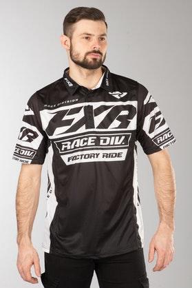 FXR Race Division Tech Polo shirt Black-White