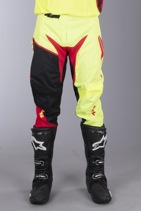 Alias A2 Burst MX Pants Neon Yellow-Red