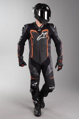 Alpinestars GP Plus Leather Suit Camo Black-Fluo Red