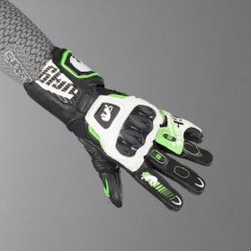 Rękawice Furygan FIT-R2 Czarno-Biało-Fluorescencyjno Zielone