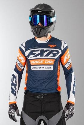 Bluza Cross FXR Revo Morsko-Biało-Pomarańczowa