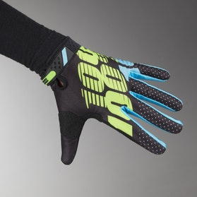 100% Ridefit Gloves Black-Lime Green