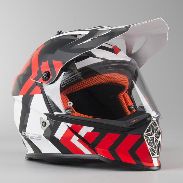 brand new look out for many styles LS2 MX436 Pioneer Xtreme Adventure Helmet Matte Black-Red - Now 41 ...
