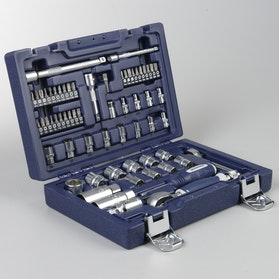 "Proworks Socket Wrench Set 62 Pieces 1/4"" & 3/8"" Flex Bar"