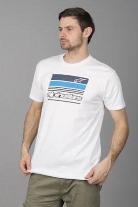 T-Shirt Alpinestars News Biały