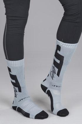 Ponožky JT Racing Coolmax Šedá-Černá