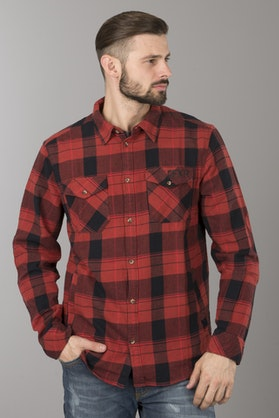 FXR Timber Plaid Shirt Maroon-Black