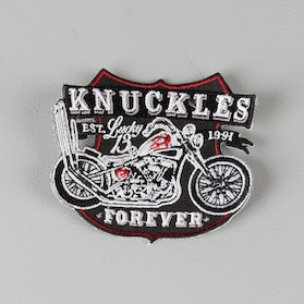 Lucky 13 Knuckle 3,5 x 3,06 Inch Patch Black