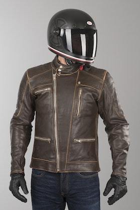 Ride&Sons Empire Old Leather Jacket Brown