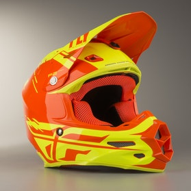 Kask Cross FLY F2 Cold Weather HiVis-Pomarańczowy