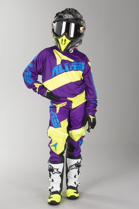 Alias A2 Bars Kid's MX Clothing Neon Yellow-Purple