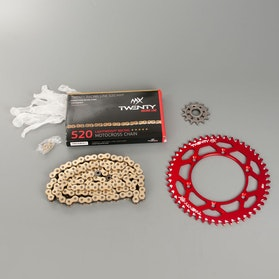 MX Twenty Racing 520 MXP Chain and Sprocket Kit Red