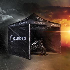 XLMOTO Race Easy-Up Race Tent Black  3x3m With Walls