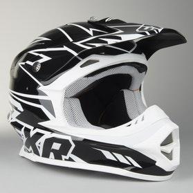 Kask cross FXR Blade Super Lite czarno-biały
