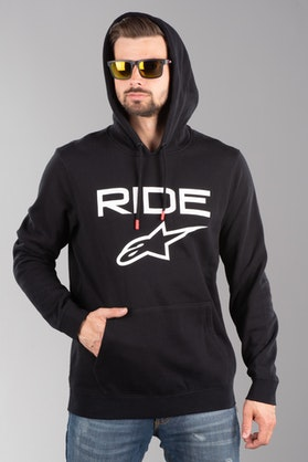 Bluza z Kapturem Alpinestars Ride 2.0 Czarno-Biała