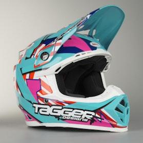 Crossová Helma Bell Moto-9 Tagger Aqua