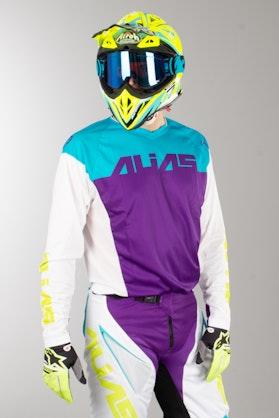 Alias A1 Classic MX Jersey White-Aqua