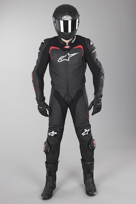 Alpinestars GP PRO Tech Airbag-Compatible Leathers Black-Red