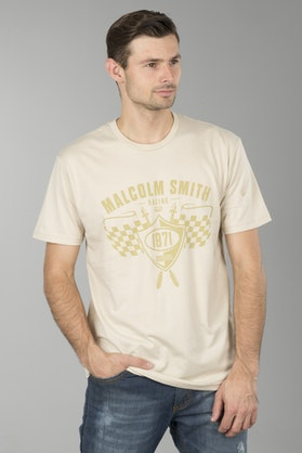 T-Shirt MSR Crest Tan
