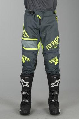 FLY Kinetic ERA Cross-Trousers Grey-HiVis