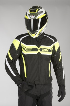 IXS Sport RS-400-ST Jacket Black-Fluo Yellow-White