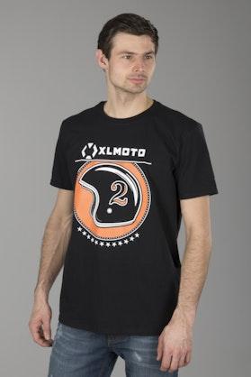 T-shirt XLmoto Helmet Czarny