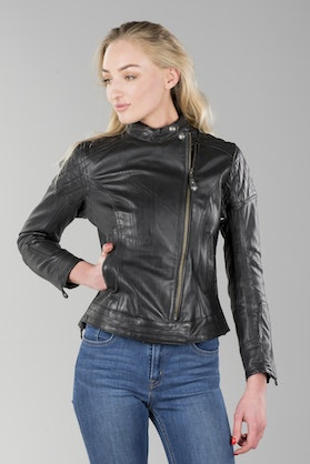 Roland Sands Riot Women's Leather Jacket Black