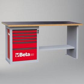 Stół warsztatowy z 6 szufladami Beta Tools