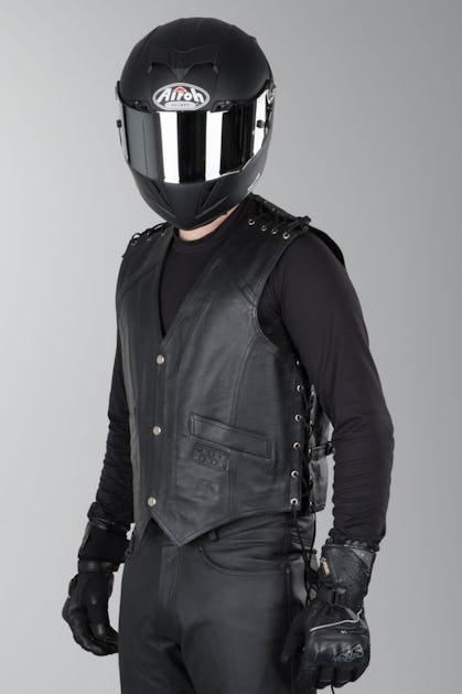 414f0bcfb IXS Biker Leather Vest