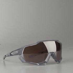 Speedtrap Matte Translucent Crystal Grey w/ HiPER Sport Silve Mirror Lens Glasses