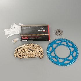 MX Twenty Racing 520 MXP Chain and Sprocket Kit Blue